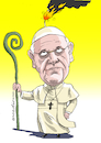 Cartoon: Pope in danger. (small) by Cartoonarcadio tagged pope,vatican,religion,christianism