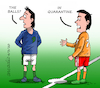 Cartoon: Sports in quarantine. (small) by Cartoonarcadio tagged pandemic,sports,football