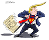 Cartoon: Super Trump. (small) by Cartoonarcadio tagged sanders,trump,us,elections,democrats,republicans