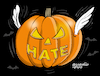 Cartoon: The pumpkin of hatred. (small) by Cartoonarcadio tagged trump,hate,politicians,democracy