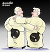 Cartoon: The two Popes (small) by Cartoonarcadio tagged pope,francis,benedict,vatican,catholic,church,religion,europe