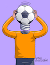 Cartoon: The World Cup starts. (small) by Cartoonarcadio tagged football,soccer,russia,national,teams,sport,celebration