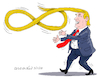 Cartoon: Trump and the infinite power. (small) by Cartoonarcadio tagged trump us government oresident xi jinping