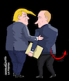Cartoon: Trump giving info to Putin. (small) by Cartoonarcadio tagged putin trump usa russia information top secret