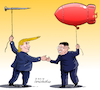 Cartoon: Trump Kim Summit. (small) by Cartoonarcadio tagged trump,hanoi,kim,usa