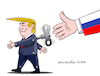 Cartoon: Trump...rope doll. (small) by Cartoonarcadio tagged trump,russia,friendship,usa