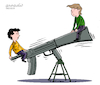 Cartoon: Weapons game. (small) by Cartoonarcadio tagged weapons,society,violence