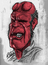 Cartoon: Hellboy (small) by Harbord tagged ron,perlman,hellboy,caricature