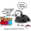 Cartoon: Rabenmutter (small) by Any tagged familie,frauen,arbeit,alltag,kinder