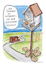 Cartoon: Insektenhotel (small) by toonwolf tagged insektensterben,insektenhotel,lieferservice