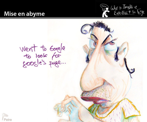 Cartoon: Mise en Abyme (medium) by PETRE tagged searching,google