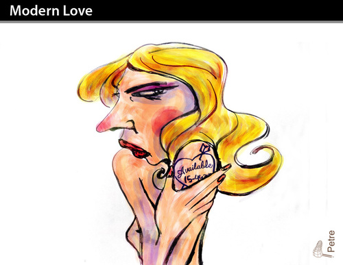 Cartoon: Modern Love (medium) by PETRE tagged couples,men,women,dates