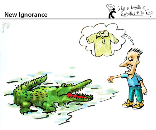 Cartoon: New Ignorance (medium) by PETRE tagged knowledge,education,information,marketing