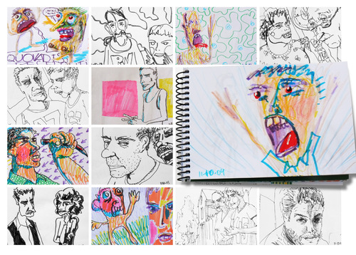 Cartoon: October sketches (medium) by PETRE tagged drawings,colour,sketches,people
