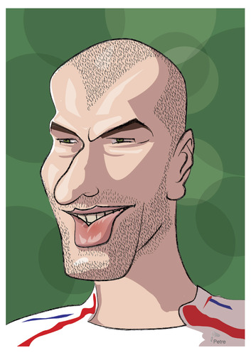 Cartoon: Zinedine Zidane (medium) by PETRE tagged zidane,football,caricature