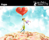 Cartoon: Fugue (small) by PETRE tagged love toughts exit