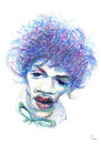 Cartoon: Jimmy Hendrix (small) by PETRE tagged caricature,guitarist