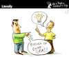 Cartoon: Literally (small) by PETRE tagged ideas,light,discussion