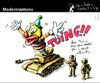 Cartoon: Modernizations (small) by PETRE tagged surprise,attack,war