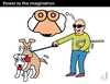 Cartoon: Power to the Imagination (small) by PETRE tagged sex,blindness,dogs