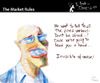 Cartoon: The Market Rules (small) by PETRE tagged invisible hand adam smith