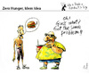 Cartoon: Zero Hunger - Idem Idea (small) by PETRE tagged food,nutrition,injustice