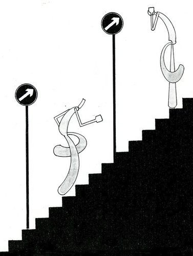 Cartoon: maybe you go the wrong way (medium) by tetik tagged maybe,you,go,the,wrong,way
