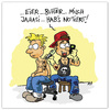 Cartoon: Verliebte Tätowierer.... (small) by ALEXander tagged verliebt,tätowierer,einkaufsliste,tattoo,notizen