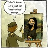 Cartoon: Mona Lisa smile (small) by andriesdevries tagged mona lisa painting smile leonardo vinci