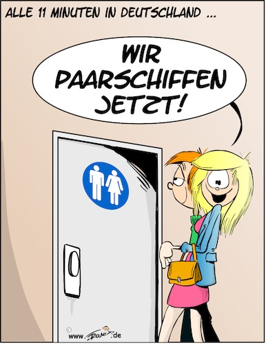Cartoon: Alle 11 Minuten in Deutschland (medium) by Trumix tagged paarship,wc,paarschiffen,toillette,pinkeln,clo,klo,paar,unisex,paarship,wc,paarschiffen,toilette,pinkeln,clo,klo,paar,unisex,sex,urinieren