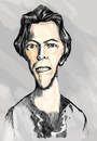 Cartoon: David Bowie (small) by gartoon tagged singer,producer,actor,artist