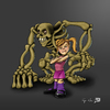 Cartoon: Bad to the Bone (small) by RyanNore tagged bad,bone,skeleton,monster,girl,cartoon,digital