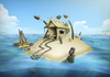 Cartoon: World of Art (small) by RyanNore tagged tropical,island,water,sand,art,photoshop