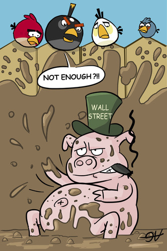 Cartoon: Wall Street ANGRY PIGS (medium) by victorh tagged occupywallst,occupywallstreet,wallstreet