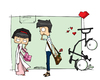 Cartoon: dating (small) by matakunkun tagged matakunkun