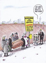 Cartoon: beuahlte ruhe (small) by Petra Kaster tagged tod,bestattungen