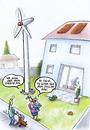Cartoon: energy mix (small) by Petra Kaster tagged solarenergie,windkraft,technik,alternativenergien,energiewende,erneuerbare,energien,ressource