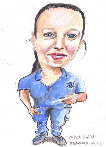 Cartoon: Marina (medium) by jjjerk tagged marina,darndale,dublin,spanish,ireland,cartoon,caricature,blue,spain