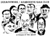 Cartoon: A Wake in the West (small) by jjjerk tagged wake,in,the,west,michael,ginnelly,barry,cartoon,caricature,play,irish,ireland