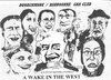 Cartoon: A Wake in the West (small) by jjjerk tagged wake,in,the,west,michael,ginnelly,cartoon,caricature,play,irish,ireland