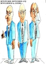 Cartoon: Bewitched bothered  bewildered (small) by jjjerk tagged bewitched bothered and bewioldered blue three men tie glasses cartoon caricature