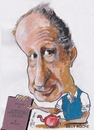 Cartoon: Billy Roche (small) by jjjerk tagged wexford,billy,roche,cartoon,caricature,book,literature,play,maynard,perdu