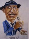 Cartoon: Frank Sinatra (small) by jjjerk tagged cartoon caricature frank sinatra singer actor films blue mike hat tie