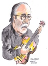 Cartoon: Juan O Perez (small) by jjjerk tagged juan perez spain spanish ireland irish cartoon guitar glasses beard black caricature famous