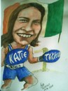 Cartoon: Katie Taylor (small) by jjjerk tagged katie,taylor,irish,ireland,bray,wicklow,cartoon,caricature,olympic,gold,medal