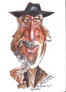Cartoon: Morgan Freeman (small) by jjjerk tagged morgan,freeman,actor,american,cartoon,caricature,film,star,hat,beard