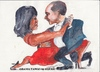 Cartoon: Obama tango (small) by jjjerk tagged obama president michelle wife husband cartoon caricature red united states dance tango