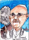 Cartoon: Pope Francis 1 (small) by jjjerk tagged pope,begoglio,italy,jeorge,mario,south,america,latin,argentina,cartoon,caricature,vatican,jesuit