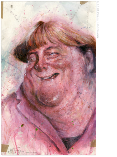 Cartoon: Merkel (medium) by Hoppmann tagged politikerin,cdu,bundeskanzlerin,angela,merkel
