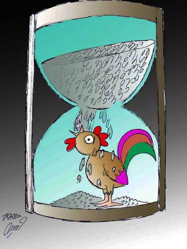 Cartoon: rooster (medium) by Hossein Kazem tagged rooster